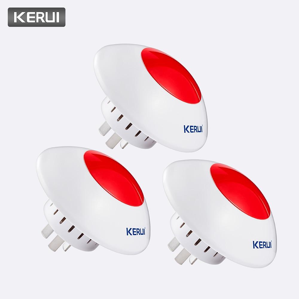 KERUI 3pcs 433MHz Wireless Alarm Siren Flash Horn Red Warning Light Strobe Whistle Siren Suit For