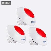 KERUI 3pcs 433MHz 무선 경보 사이렌 플래시 경적 빨간색 경고 빛 스트로브 휘슬 사이렌 정장 KERUI 경보 시스템