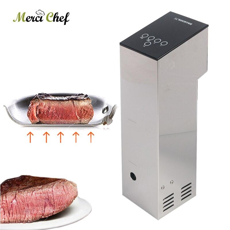 ITOP Sous Vide кухонная машина коммерческий погружной циркулятор Медленная Плита низкая температура обработки пищевых продуктов машина CE 110 В-240 ...