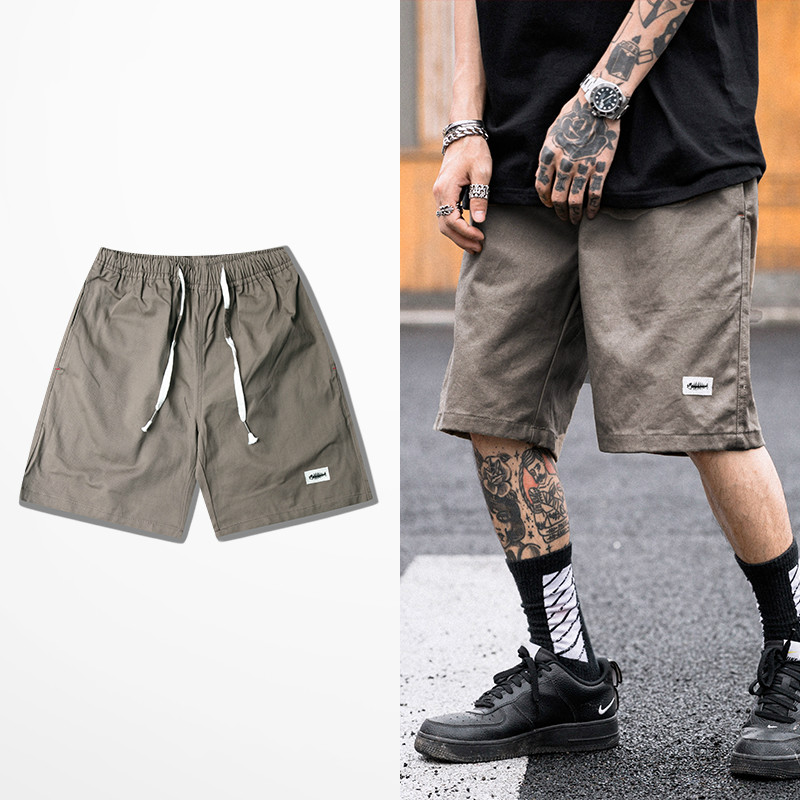 New Summer Fashion Leisure Sports Shorts Tide Brand Retro Cargo Short Pants Male Skateboard High Street Mutil Pockets Shorts