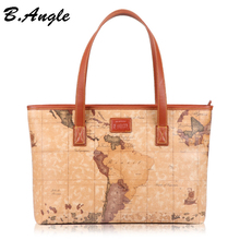 2016 Star war map message new fashion high quality woman handbag shoulder bag tote big world map bag in PVC