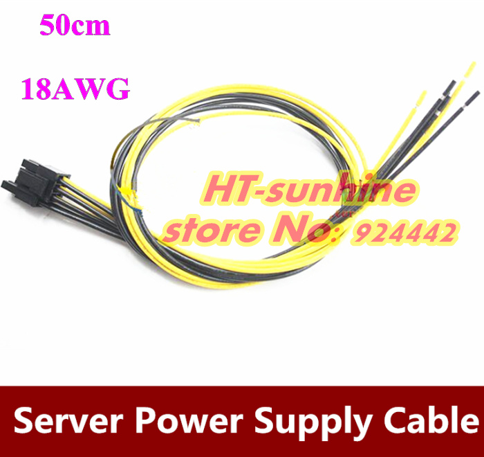 20PCS/LOT 8Pin Server Power Supply Cable For DELL2950 2850 1470 8Pin Semi Product Cable