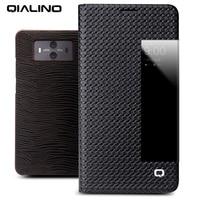 QIALINO Luxury Business Style Genuine Leather Flip Cover For Huawei Mate 10 Handmade Sleep Wake Smart