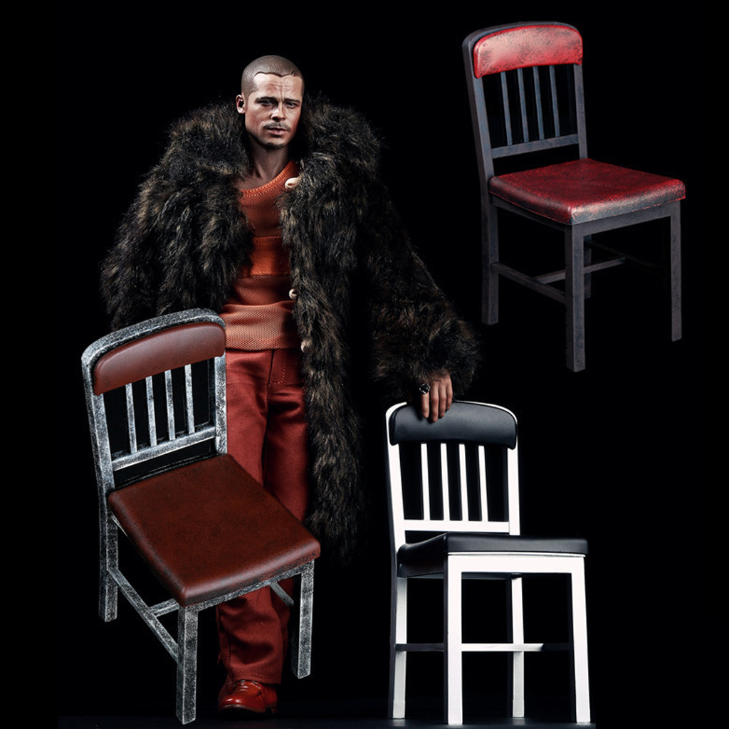 1//6 Scale Plastic Metallic Colored Chairs Model for 12/'/' Action Figure Accessory