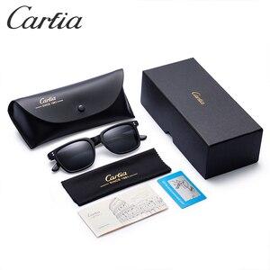 Image 5 - Carfia marka projektant HD spolaryzowane zabytkowe okulary męskie kwadratowe okulary jazdy moda Retro okulary 100% ochrona UV