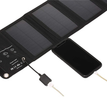 Portable Solar Charger Foldable 10W Solar Panel with USB Port for Cell Phone Camping Travel  HUG-Deals