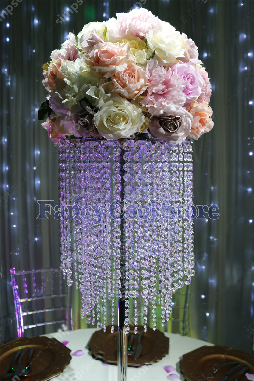 80cm(H) Silver wedding centerpiece table flower stand Wedding Props80cm(H) Silver wedding centerpiece table flower stand Wedding Props