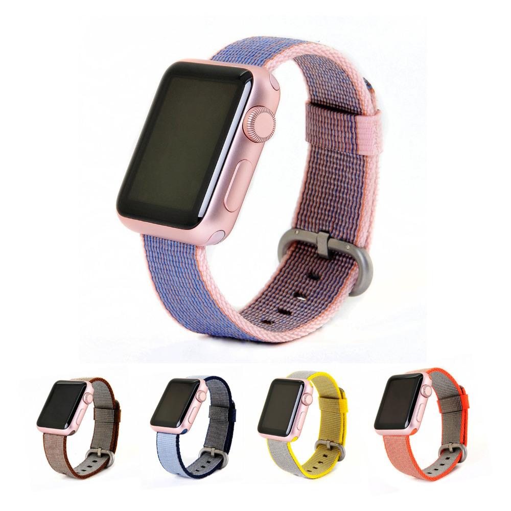 Prix pour Sangle en nylon pour apple watch bande 42mm 38mm sport-bracelet braclet et tissu comme tissé nylon bracelet pour iwatch 2 1 Accessoires