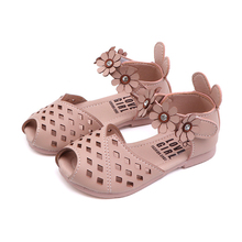 New Summer Sandal Kids Fashion Princess Sandals Hollow Out Girls Sandal Flower Children Rabbit Toddlers Shoes For Baby Girls girls shoes kids baby elegant crystal hollow princess shoes sandals baby sandalias kids pu sandal for girl summer shoes