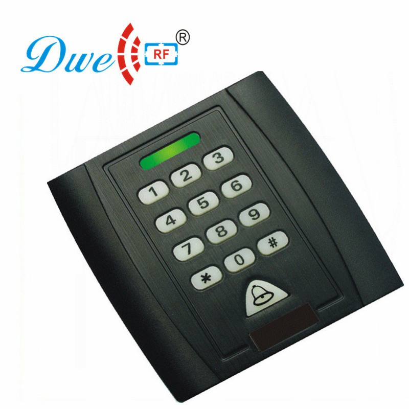 DWE CC RF RFID card reader backlight 125khz emid wiegand 26  waterproof  keypad card reader for access control 002I waterproof touch keypad card reader for rfid access control system card reader with wg26 for home security f1688a