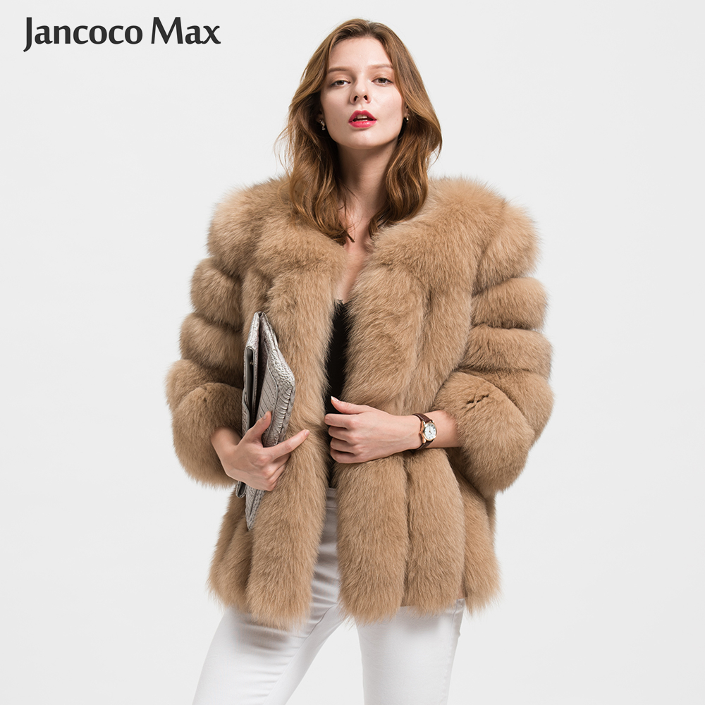 Jancoco Max Wholesale/ Retail 10 Colors Women Real Fox Fur Jacket Or Lady Winter Fashion Fur Coat S1589