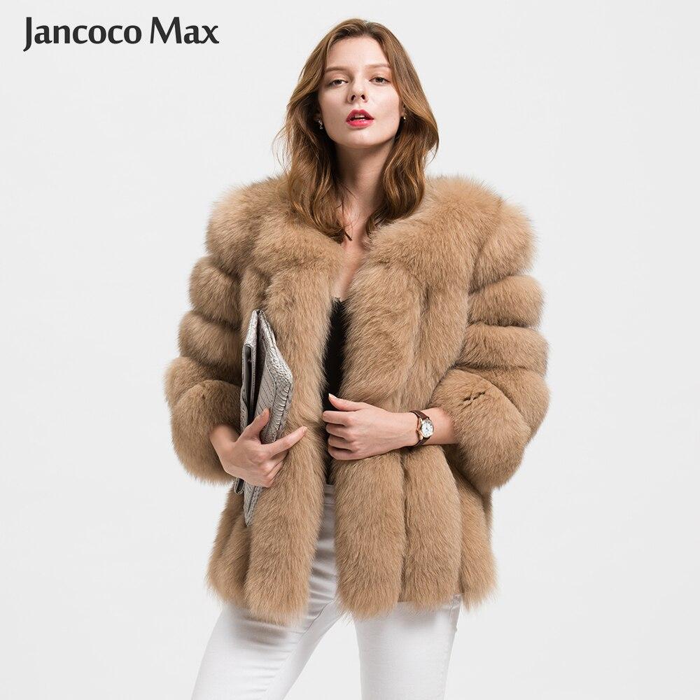 Jancoco Max vente en gros/au détail 10 couleurs femmes vraie veste de fourrure de renard ou dame hiver mode manteau de fourrure S1589