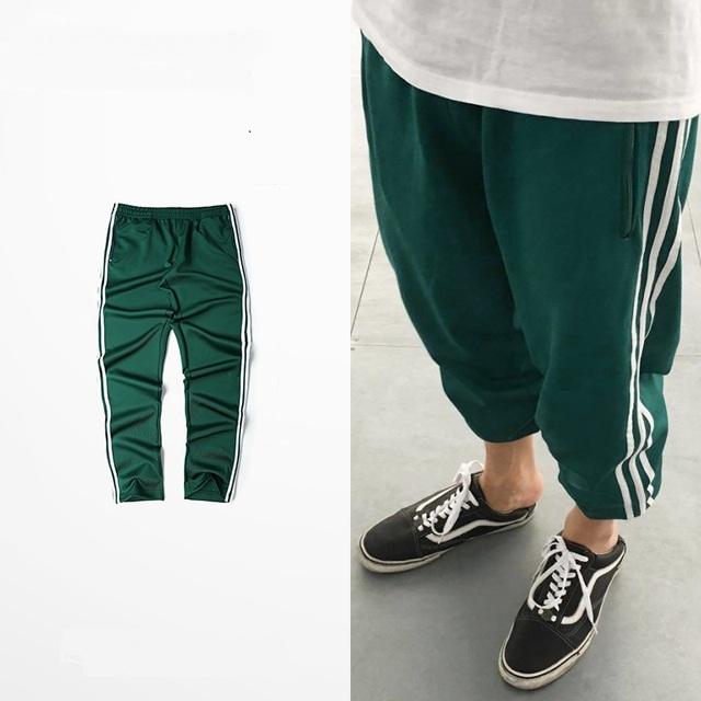 2017 Nova Marca de Moda Mens Basculadores Sweatpants Calças Harem Pants calça Casual Homens Meninos Calça Atleta Masculino Plus Size
