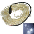 Jiawen 5pcs/lot 10M 100 Leds Copper Wire Snowflake Shape Christmas Decoration Fairy LED String Lights(DC 12V)