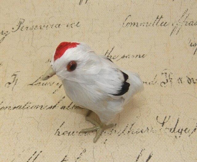 169a8f40cb3f24 Kleine leuke simulatie witte kip speelgoed levensechte kleine kip pop  woondecoratie gift over 10x6x10 cm