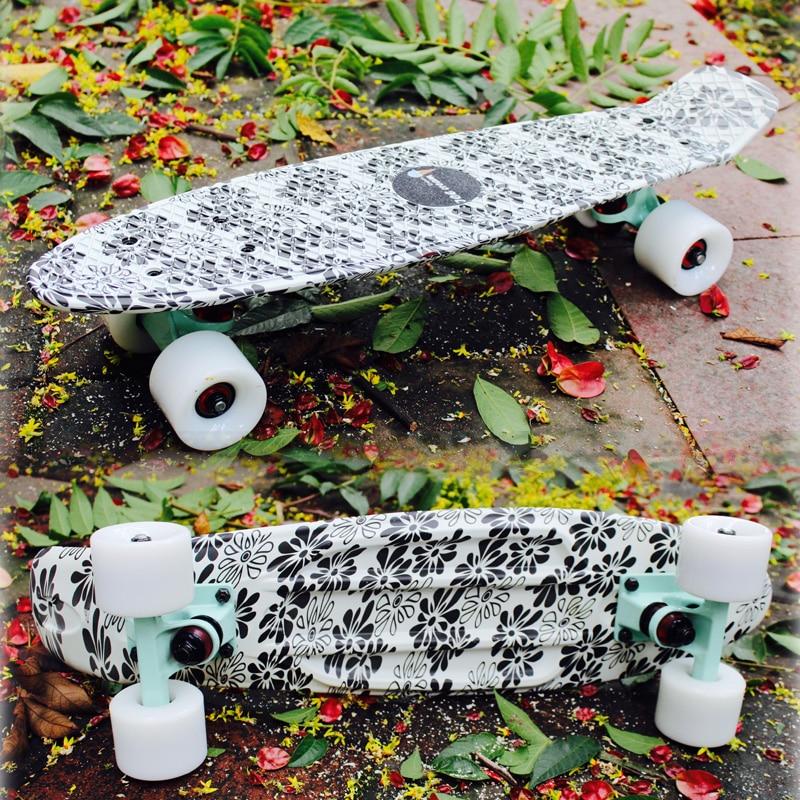 2018 New Peny Board Skateboard Complete Retro Girl Boy Cruiser Mini Longboard Skate Fish Long Board skate wheel Pnny Board 22
