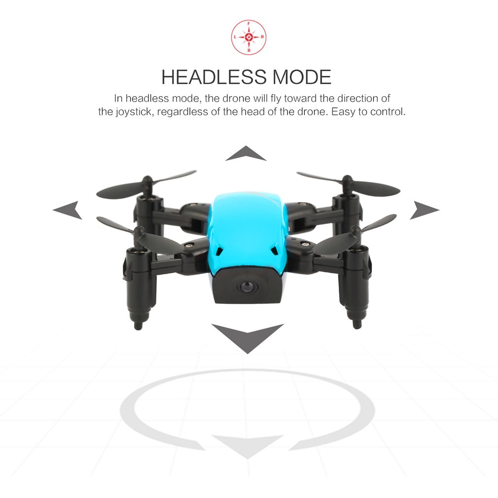 Foldable Mini RC Drone S9 No Camera Drones Headless H/L Speed Switch Dron with Light Altitude Hold Remote Control Quadcopter