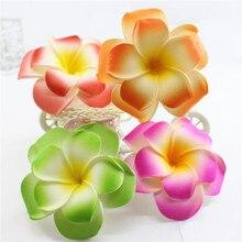 Популярный бренд вы выберите 20 Большой двойной слой пены Гавайский цветок Плюмерия Frangipani цветок свадебные зажимы для волос 8 см
