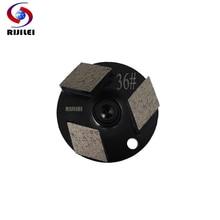 RIJILEI 20 Pcs/lot diamond grinding disc for Concrete floor grinder Metal Bond Diamond Shoes stone polishing pad W60-1