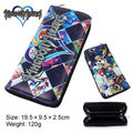 Anime Kingdom Hearts Bi-fold Leather Wallet Zip Pu Long Purse Coin Bag Xmas Gift