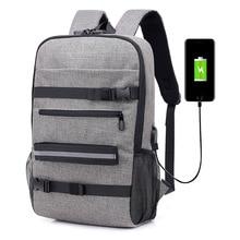 2019 新トレンド盗難防止パスワードロック usb キャンバスのショルダーバッグの男性と女性のレジャー旅行コンピュータスケートボードのバックパック