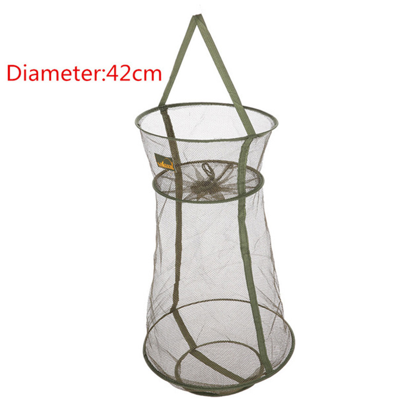 4 Sizes 3 Layer Fishing Net Round Folding Fish Shrimp Mesh Cage Cast Net Fishing Trap Network Fold Landing Net