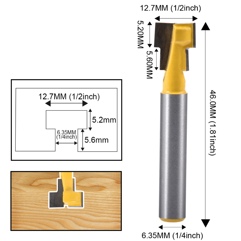 Anti-glare 1* Router Bit Milling Cutter Head Router Bit Brand new High quality