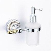 Vintage Gốm Rửa Mạ Liquid Soap Dispenser Châu Âu Vàng Được Đánh Bóng Lỏng Xà Phòng Chủ Wall Mount Phụ Kiện Phòng Tắm Gm5