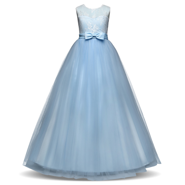 09c76323ed167 Fancy Children Girls Dresses For Teenage Girl Long White Princess Dress  Girls Party Frocks Christmas Evening Party Prom Gown