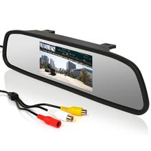 4.3″ Screen TFT 2 Channel Video Input Car LCD Rear View Mirror Monitor display for parking Car Reverse Camera car monitor