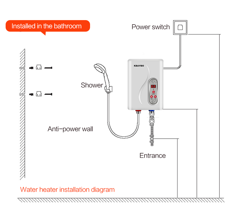 Tankless Water Heater Installation Diagram