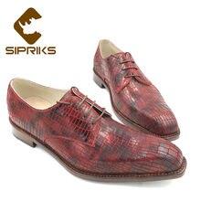 300efbf7 Sipriks italiano para hombre hechos a mano Goodyear Zapatos de vestir  zapatos de moda jefe de oficina de negocios zapatos Derby .