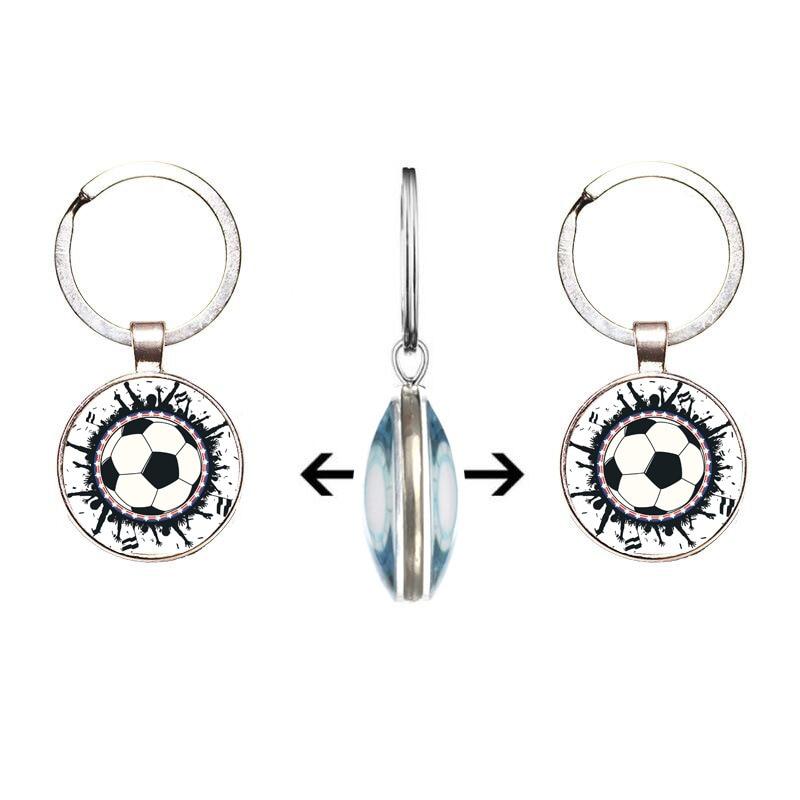 ISINYEE Fashion Football Keychain For Men Women Silver Sport Key Ring Holder Jewelry Car Bag Accessories Chaveiro Llaveros
