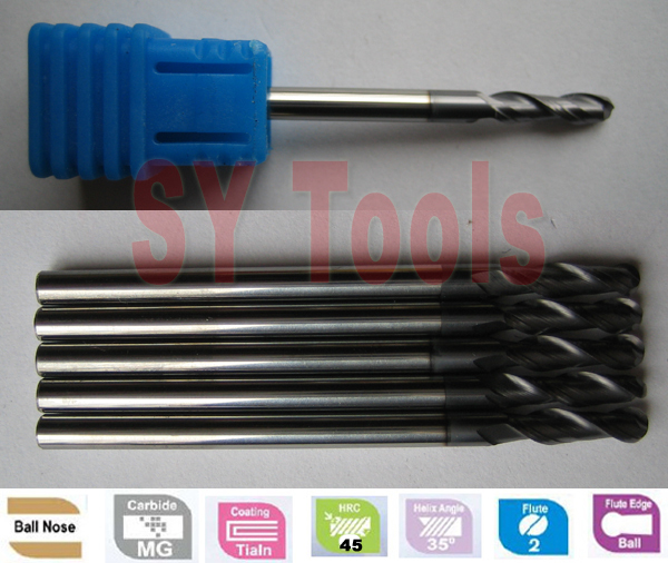 Free shipping ----20pcs Ball nose endmills  hrc45 CNCsolid carbide milling tools cutters 20pcs call transmitter button 3 watch receiver 433mhz 999ch restaurant pager wireless calling system catering equipment f3285c