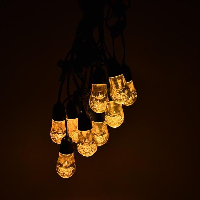 12led String Light Ip65 Solar Fairy Lights Warm White 7colors For Christmas Outdoor Bulb