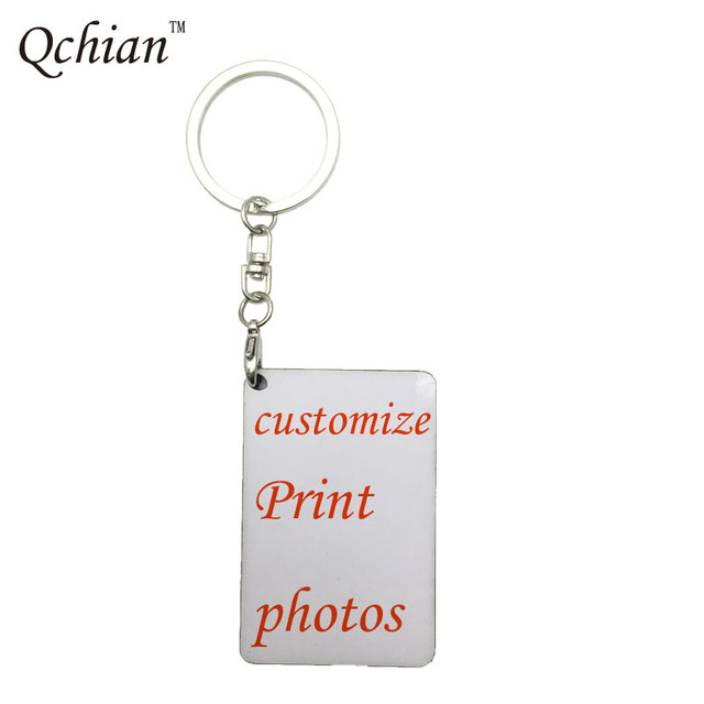 1pcs Customized keychain Printed Text Picture Lover Baby Photo Print On Key Chai