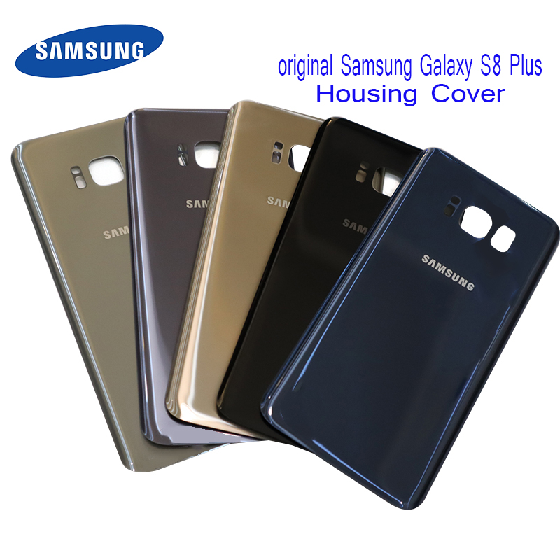 Samsung Battery-Cover Original Replacement-Parts Backshell Glass Galaxy with Sticky-Sticker