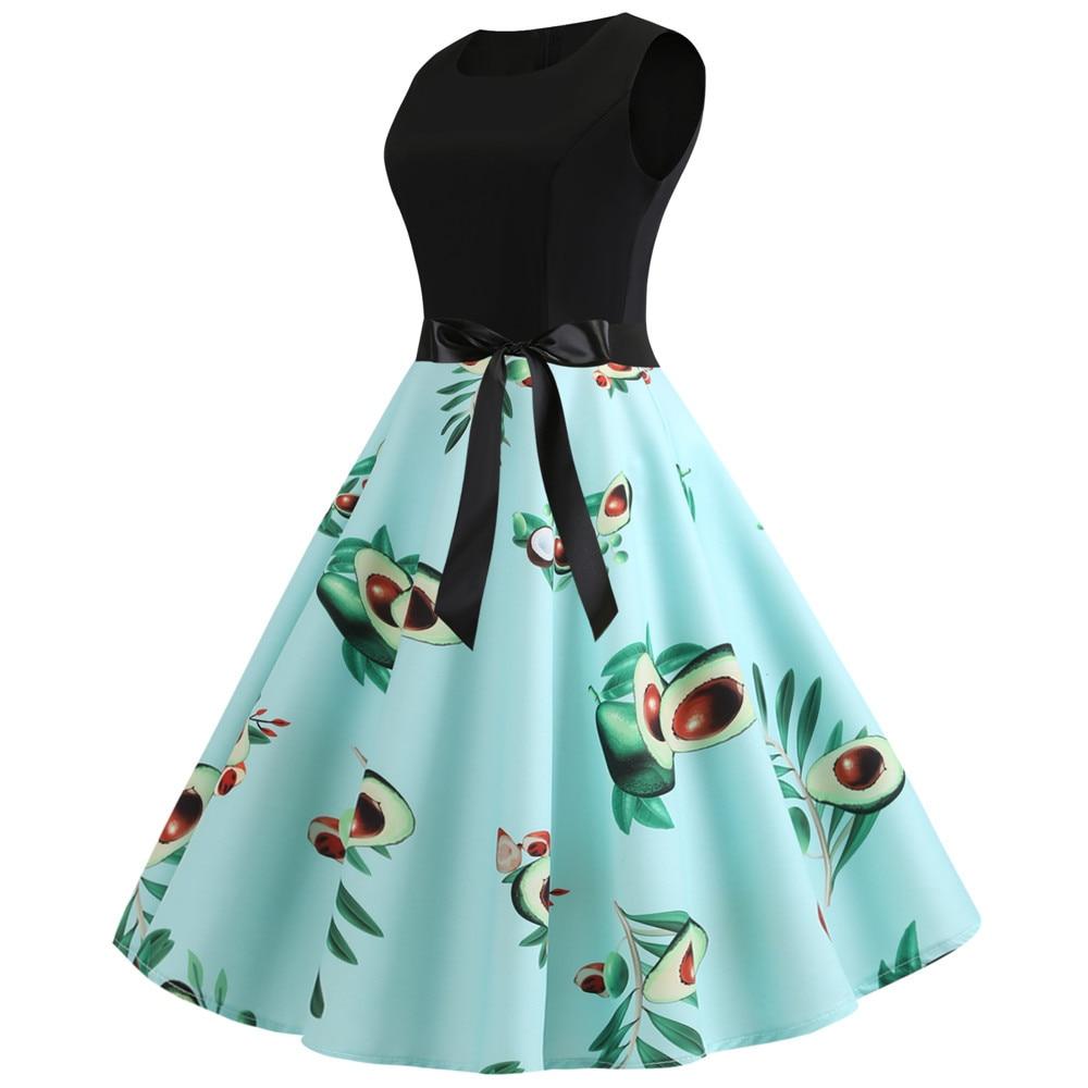 HTB1RbRXbvfsK1RjSszgq6yXzpXam Women Summer Dresses 2019 Robe Vintage 1950s 60s Pin Up Big Swing Party Work Wear Rockabilly Dress Black Polka Dot Vestidos