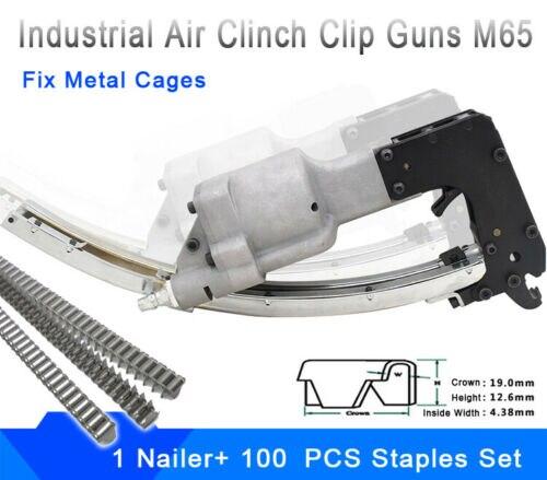 Heerlijk Air Clinch Clip Guns Voorjaar Gereedschappen M65 Cl-4 Matras Lucht Nagelpistool Voor Kooi Bevestiging