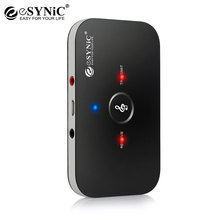 hot deal buy 2 in 1 wireless stereo audio receiver music bluetooth transmitter receiver adapter for mobile phones laptop 3.5mm rca esynic