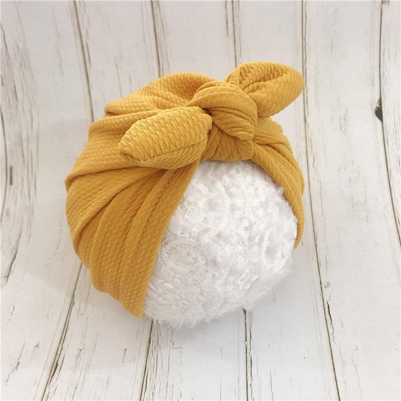 2019 Fashion Baby Hats Rabbit Ears Infant Children Baby Girls Boho Hat Beanie Scarf Turban Head Wrap Cap headscarf