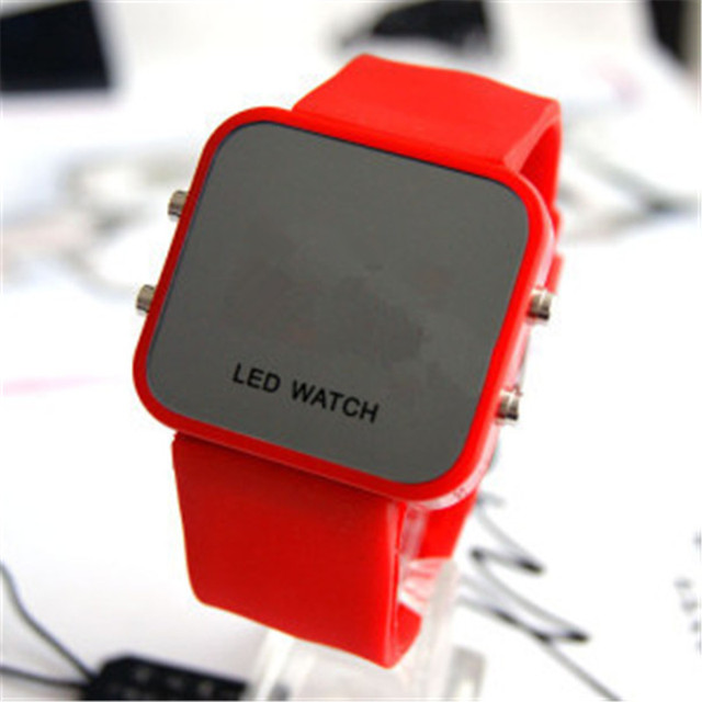 Fashion Men Women Casual Sports Bracelet Watches White LED Electronic Digital Ca