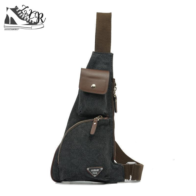 Zuoxiangru Male Casual Travel Military Larger Sling Chest Pack Bag Chest Sling Bag Canvas Messenger Bags Man Bag