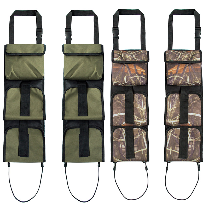 Multifunctional Portable Camouflage Army Green Car Back Seat Belt Hunting Bag Gun Rack Hunting Supplies Multi-Pocket Rifle Sling