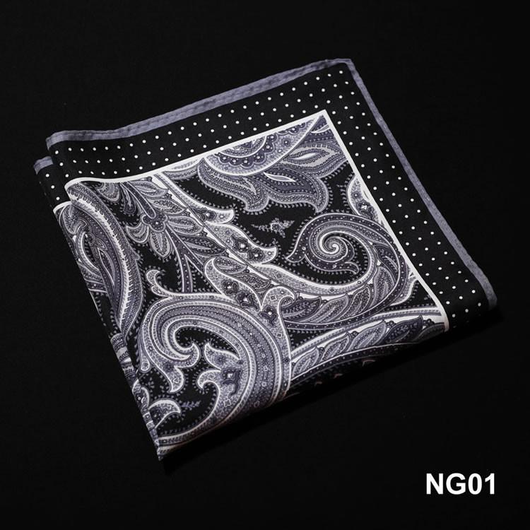 NG01 HN11A Gray Black Paisley