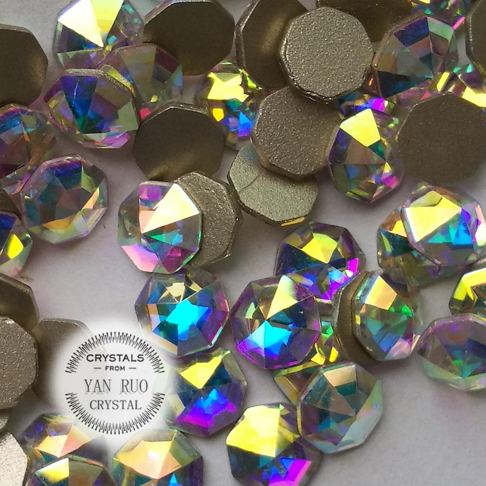 YANRUO 72 հատ 6mm # 2553 Crystal AB 3D Cossip Եղունգների - Մանիկյուր - Լուսանկար 5