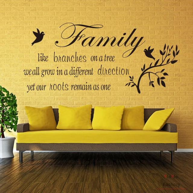 Family Like Branches Wall Decals Love Quotes Wall Vicvic Decorative ...
