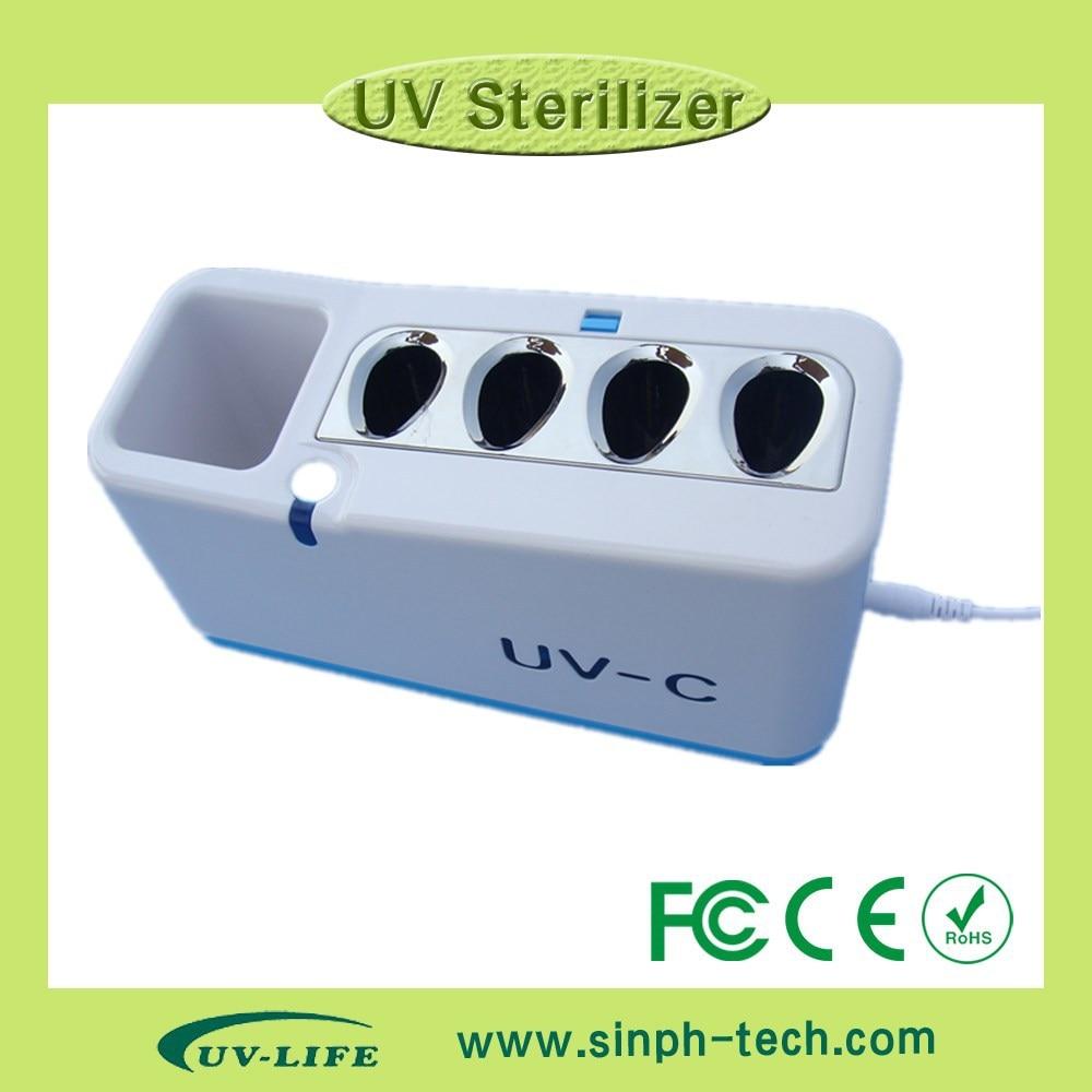 ФОТО UV-C Home Toothbrush Sterilizing holder UV light tooth brush sanitizer fashion high quality UV tooth brush disinfector