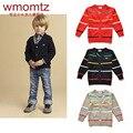 Bebê Meninos Cardigan Sweater 2016 Primavera de Moda de Nova Crianças Meninos Malhas Blusas Jaqueta Criança Crianças Casuais Roupas 2 Anos de Idade-6 T