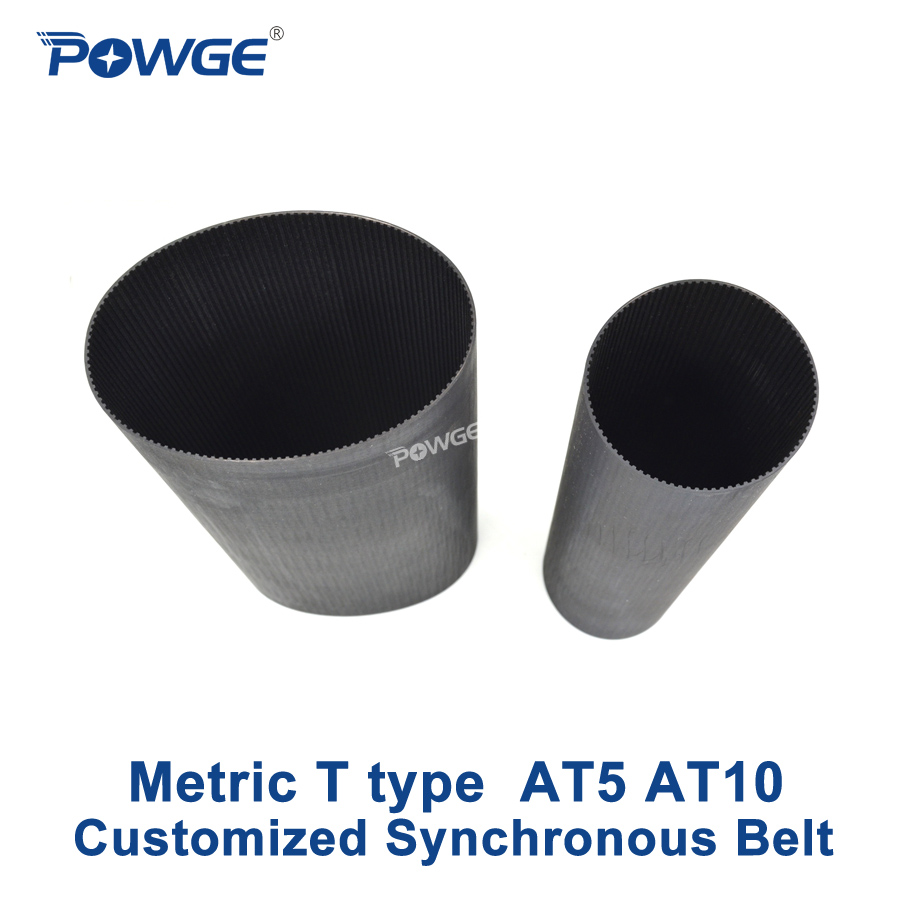 POWGE Metric T Type AT5 AT10 synchronous Pitch 5mm 10mm Customized production all kinds of Trapezoid T10 T20 Timing Belt pulley цена